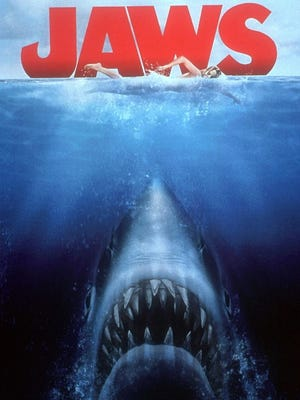 "Movie poster for the movie ""JAWS"""