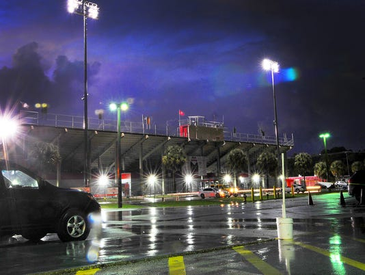 LIGHTNING DELAYS PALM BAY FOOTBALL GAME