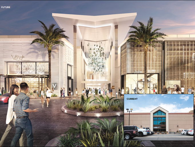 A rendering of Scottsdale Fashion Square mall's renovated