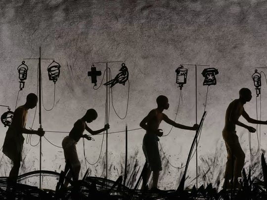 More Sweetly Play the Dance, by William Kentridge. Digital scan from the master Apple ProRes file.