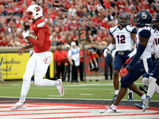 Lamar Jackson ran wild as Louisville took down Samford
