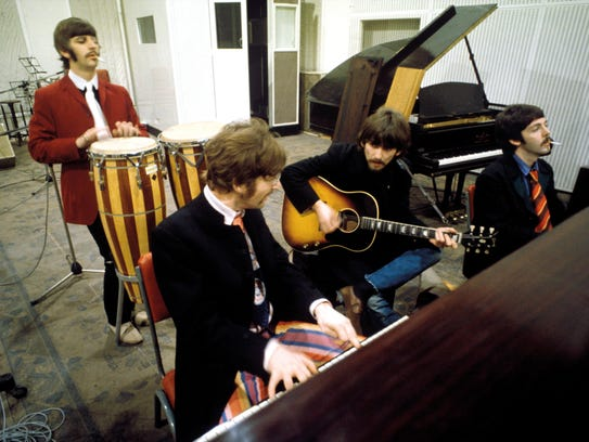 "The Beatles recording ""Sgt. Pepper's Lonely Heart's"