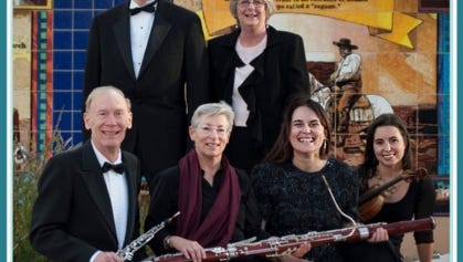 Members of the Southwest Chamber Winds will perform from 2 to 4 p.m. Saturday at Morgan Hall, 109 E. Pine St.