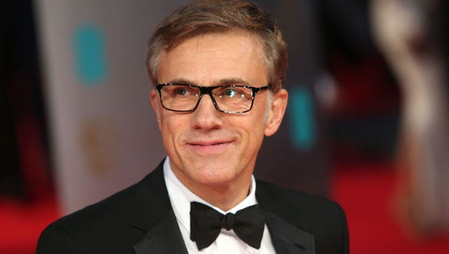 Actor Christoph Waltz poses for photographers on the red carpet at the EE British Academy Film Awards held at the Royal Opera House on Sunday Feb. 16, 2014, in London.
