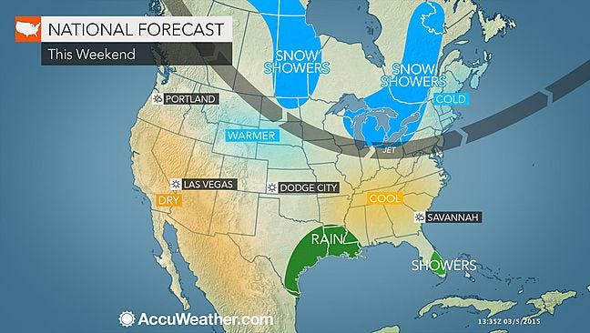 AccuWeather.com says we should warm up this weekend, but to expect refreezing overnight.