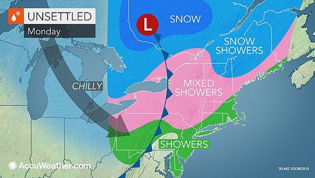 An AccuWeather meteorologist said Monday morning's snow won't cause too much trouble in Rockland, Westchester or Putnam counties.