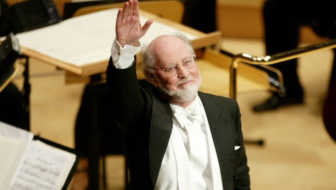 Composer, conductor and pianist John Williams at the Walt Disney Concert Hall opening gala, October 25, 2003 in Los Angeles.