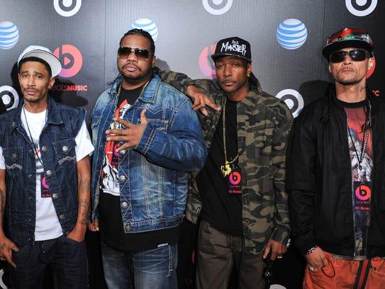 Bone Thugs-N-Harmony arrives at a Beats Music Launch