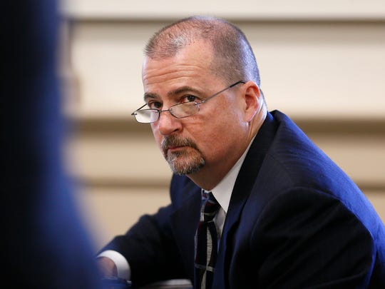 Retired Parsippany Police Chief Michael Peckerman during a civil trial on a lawsuit against the township as James Carifi, a retired Parsippany police captain is suing the township. Carifi has alleged in his lawsuit filed under the state's whistleblower law, that he reported alleged wrongdoing to superiors and found himself, as a result, the target of internal affairs investigations in retaliation. September 13, 2017, Morristown, NJ