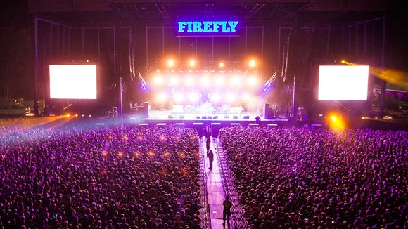 Firefly Music Festival's main stage last year.