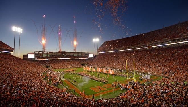Clemson's Memorial Stadium.