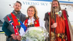 Viking Sky godmother Marit Barstad at the christening