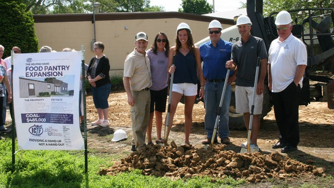The Helping Hand Food Pantry in Indianola broke ground on an expansion May 24, 2018. The expansion is made possible through donations and will help the food pantry grow from 204 square feet to 2,000 square feet.