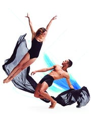 "Company dancers Samantha Griffin and Matthew Griffin are seen in a promotional photo for ""The Kaplan New Works Series."""