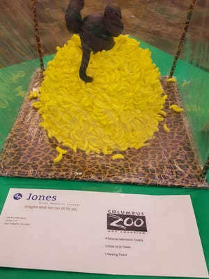 Diving for Nanas by Sherry Gunn for Jones Metals Products was the first place cake in the most unusual category at a past Coshocton Business and Professional Women Cake auction. The 14th annual event with a Halloween theme will be 4 pm. Oct. 19 at the Frontier Power Meeting Room.