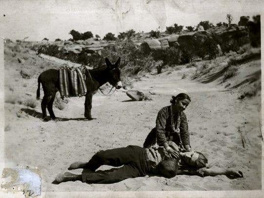 """A still from the 1908 production """"For the Love of a Navajo,"""" which is the first film shot in Farmington."""