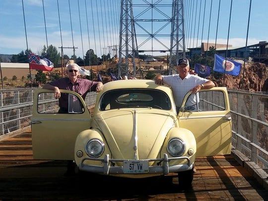 Sam Schaumann and Dave Kucera drove a 1957 Volkswagen
