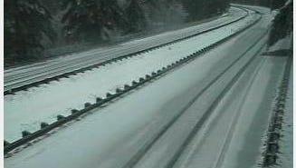 Ice covers I-84 early Wednesday near Cascade Locks