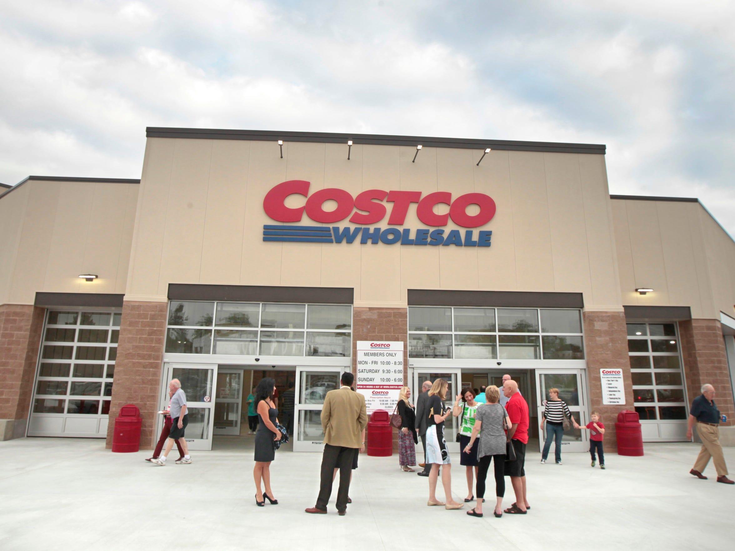 Visitors outside Costco