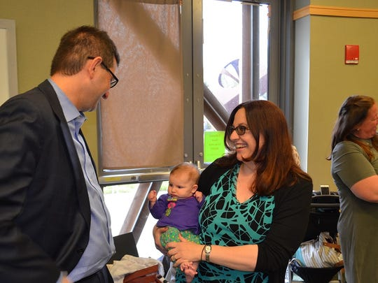 New Castle County Executive Matthew Meyer announced a new early childhood reading initiative April 20.