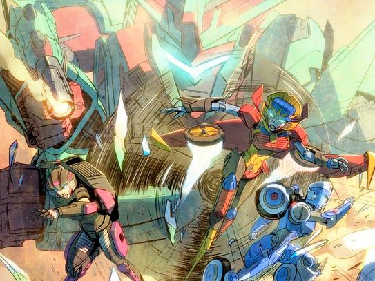 Chromia, Windblade and Arcee feel Victorion's power
