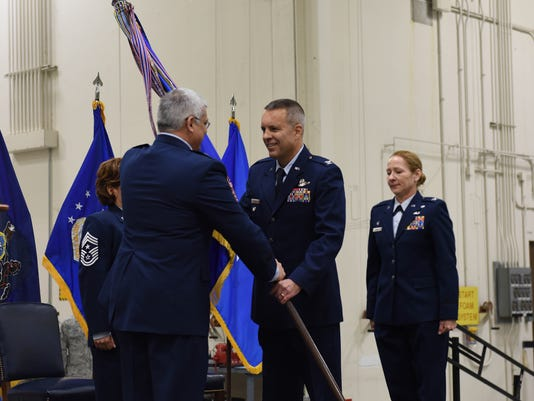 First dual-status commander takes charge of 193rd Special Operations Wing