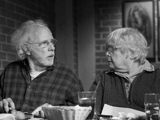 "Bruce Dern played Woody Grant who had a cantankerous marriage with  Kate Grant's June Squibb character in ""Nebraska."""