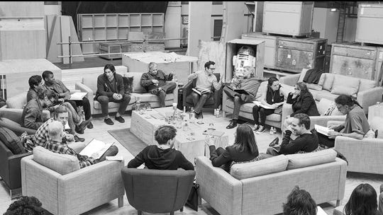 The cast and creatives behind 'Star Wars VII' meet in London