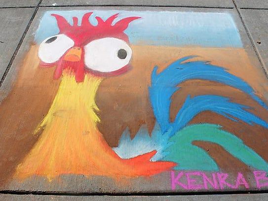 Chalk art in Gig Harbor on July 15.