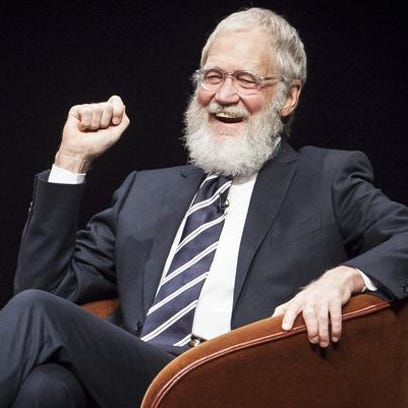 David Letterman returned Monday to Ball State University.