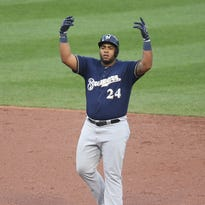 Freddy Peralta wants to stay in the majors; Jesus Aguilar wants to stay in the lineup