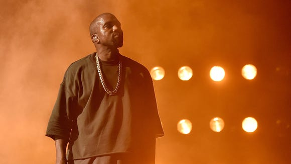 LAS VEGAS, NV - SEPTEMBER 18:  Musician Kanye West performs onstage at the 2015 iHeartRadio Music Festival at MGM Grand Garden Arena on September 18, 2015 in Las Vegas, Nevada.  (Photo by Kevin Winter/Getty Images for iHeartMedia) ORG XMIT: 573193425 ORIG FILE ID: 489061288