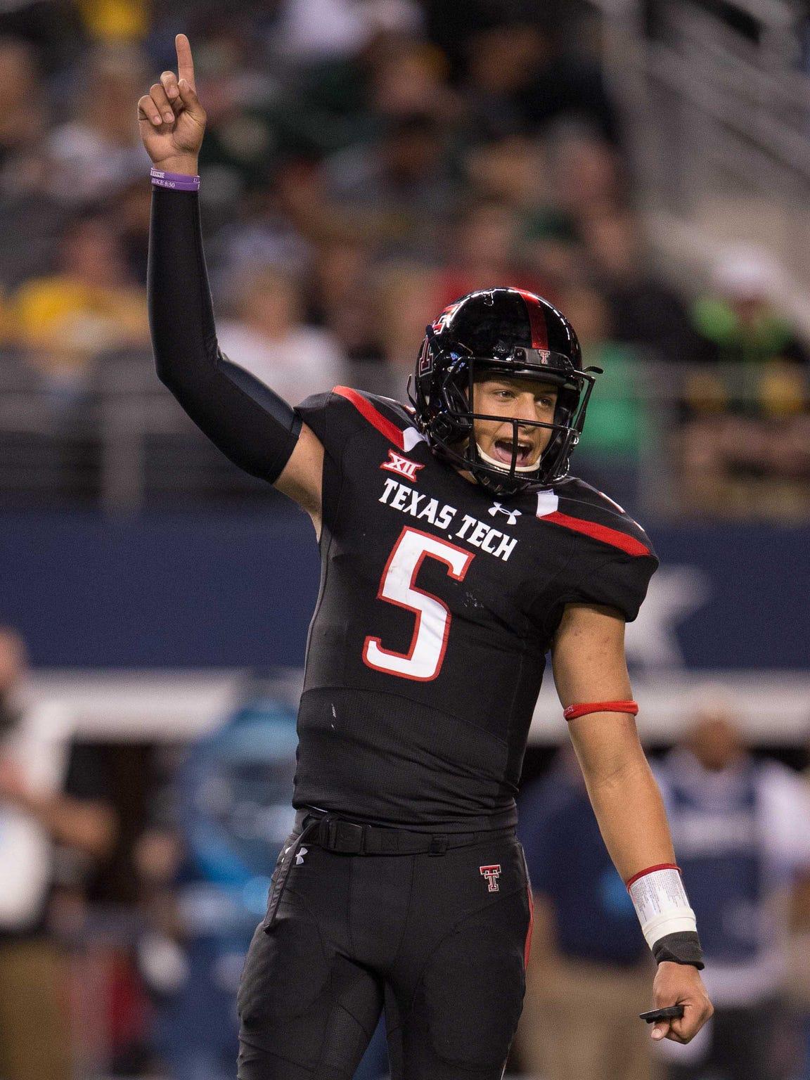 Texas Tech quarterback Pat Mahomes