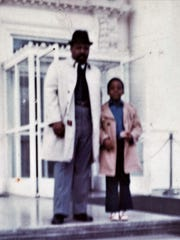 My father, Wallace Johnson, and me at the White House from a vacation in the early 1970s.