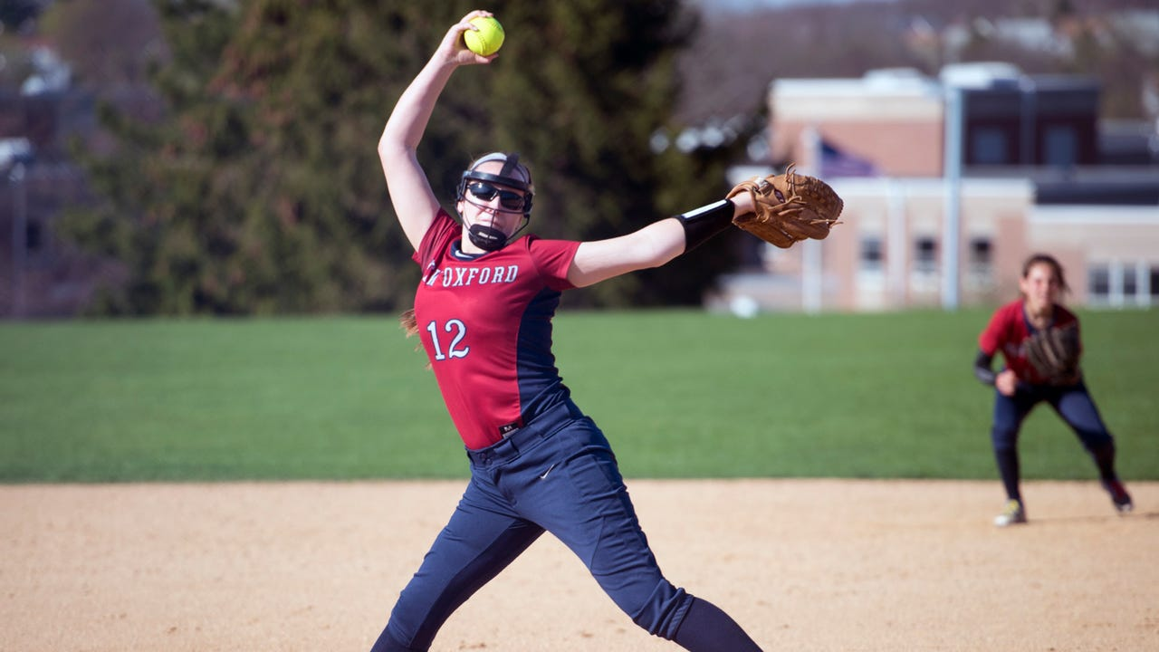 New Oxford junior Alanna Molz has pitched every game for the Colonials this season and is averaging nearly 10 strikeouts per contest.