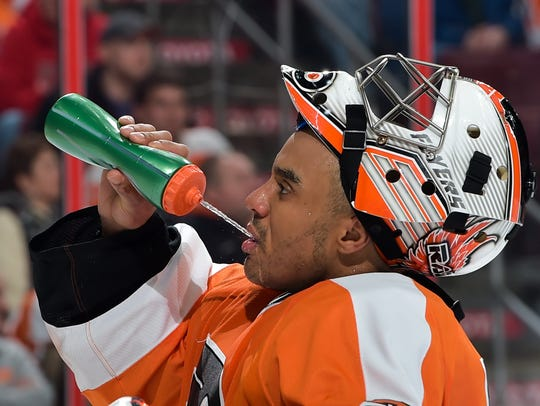 Ray Emery played 88 of his 287 NHL games for the Flyers.