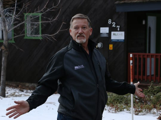 Stu Roberson of RnR Vacation Rentals shows one of his rental units to the RGJ in South Lake Tahoe on Feb. 20, 2018.