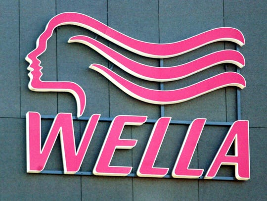 The Wella logo in 2003 at the company's offices in