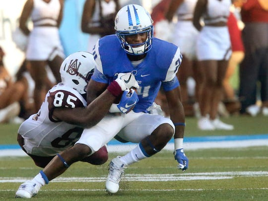 MTSU's Ty Lee (24) will play in his second college football game on Saturday.