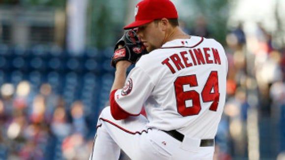 Washington Nationals starting pitcher Blake Treinen