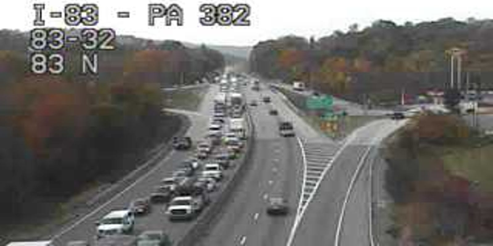 4-car crash scene now cleared on I-83 near Strinestown