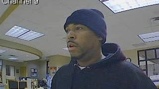 Investigators with the FBI Violent Crimes Task Force are looking for this man, wanted in connection with a Thursday bank robbery.