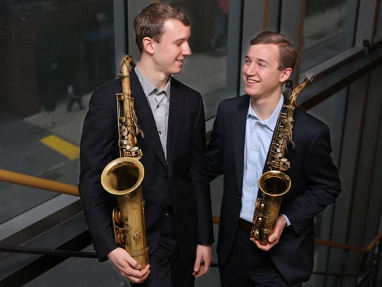Twins Peter and Will Anderson and their trio perform
