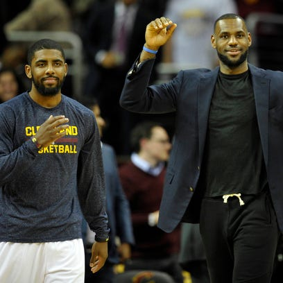 Apr 15, 2015; Cleveland, OH, USA; Cleveland Cavaliers