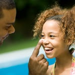 Use plenty of sunscreen with a high protection number this summer.