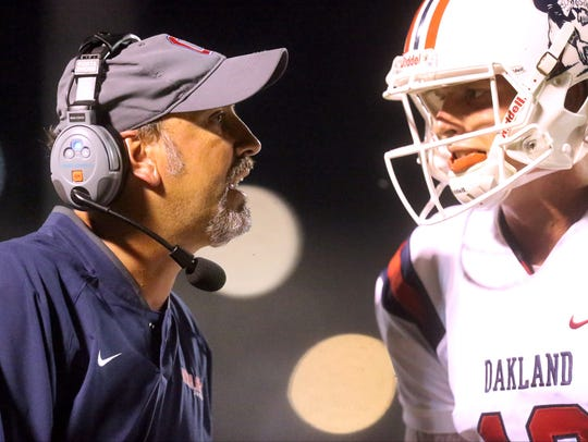 Oakland beats Blackman 38-0 during the game on Friday,