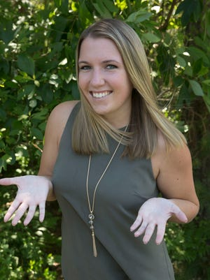 Kylie Ranck, 20, Galloway, just had a successful surgery for hyperhidrosis, excessive sweating of her hands.