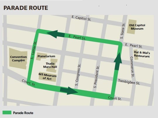 2016 St. Paddy's Day parade route.