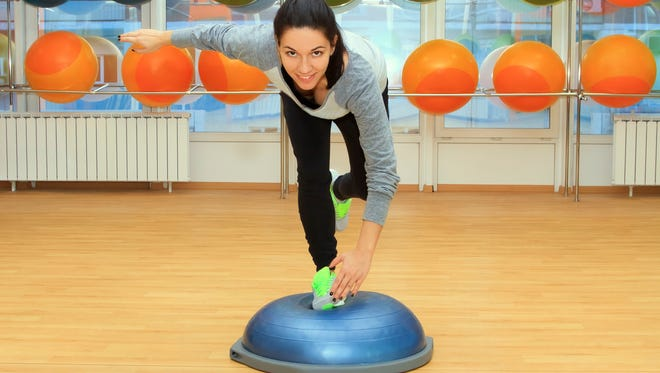 A wobbleboard or Bosu ball provides an unstable ground, moving ankles in multi-directional planes.