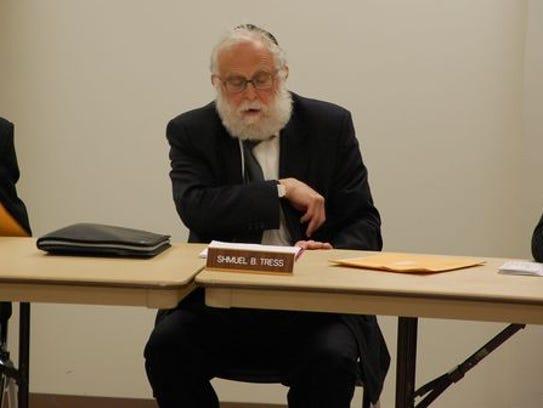 Ramapo Councilman Samuel Shmuel Tress is expected to